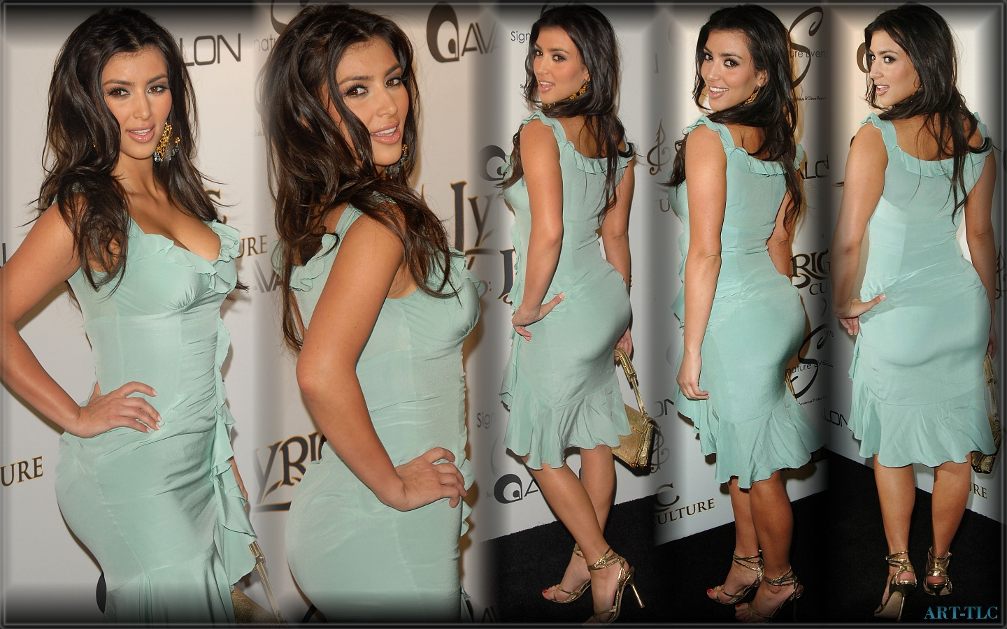 Kim Kardashian Multiple Photos Wallpaper