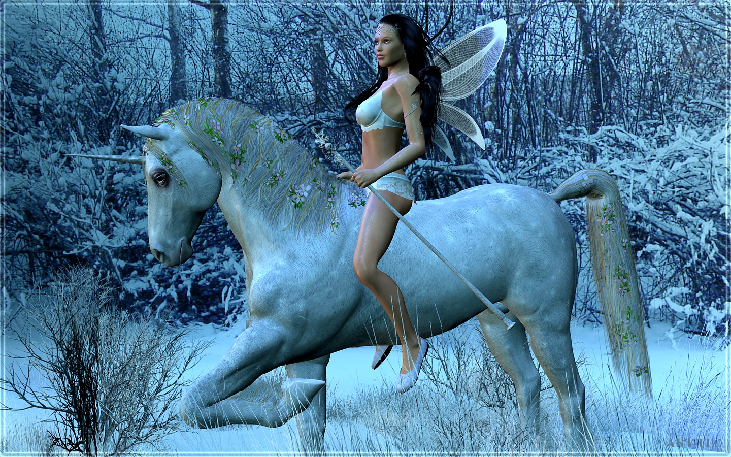 free wallpaper pictures on Free Wallpapers By Art Tlc  Wallpapers Tlc  Snow Fairies Wide